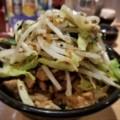 2018/02/22 夜 野菜肉めし@岡むら屋