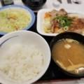 2018/03/12 夜 ふわとろ豚と温野菜定食@松屋