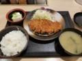 2018/04/11 夜 ロースカツ定食@松乃家