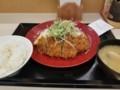2018/04/27 夜 ねぎ塩かつ定食@かつや