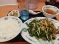 2018/05/11 夜 ニラレバ炒め定食@日高屋