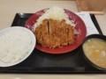 2018/05/21 夜 ロースカツ定食@かつや