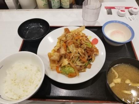 2018/06/06 夜 回鍋肉定食@松屋