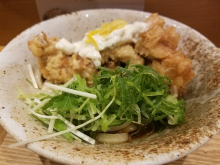 2018/06/07 昼? タルタル鶏天ぶっかけ@ふたば製麺