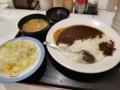 2018/06/21 夜 カレーとサラダ@松屋