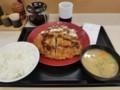 2018/06/22 夜 ロースカツ定食@かつや