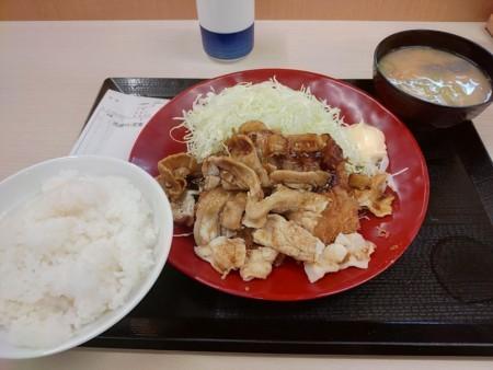 2018/6/26 夜 肉盛りチキンカツ定食@かつや