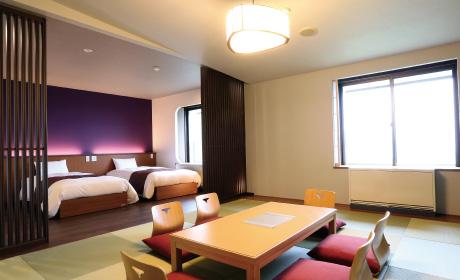 和室のホテルのお部屋