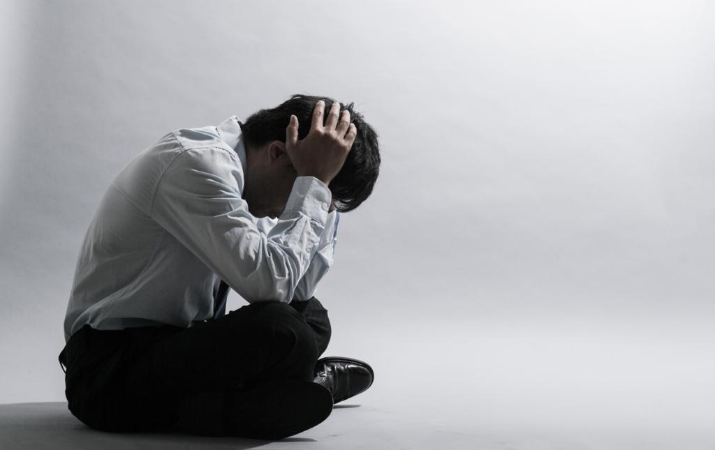 うつ病の男性
