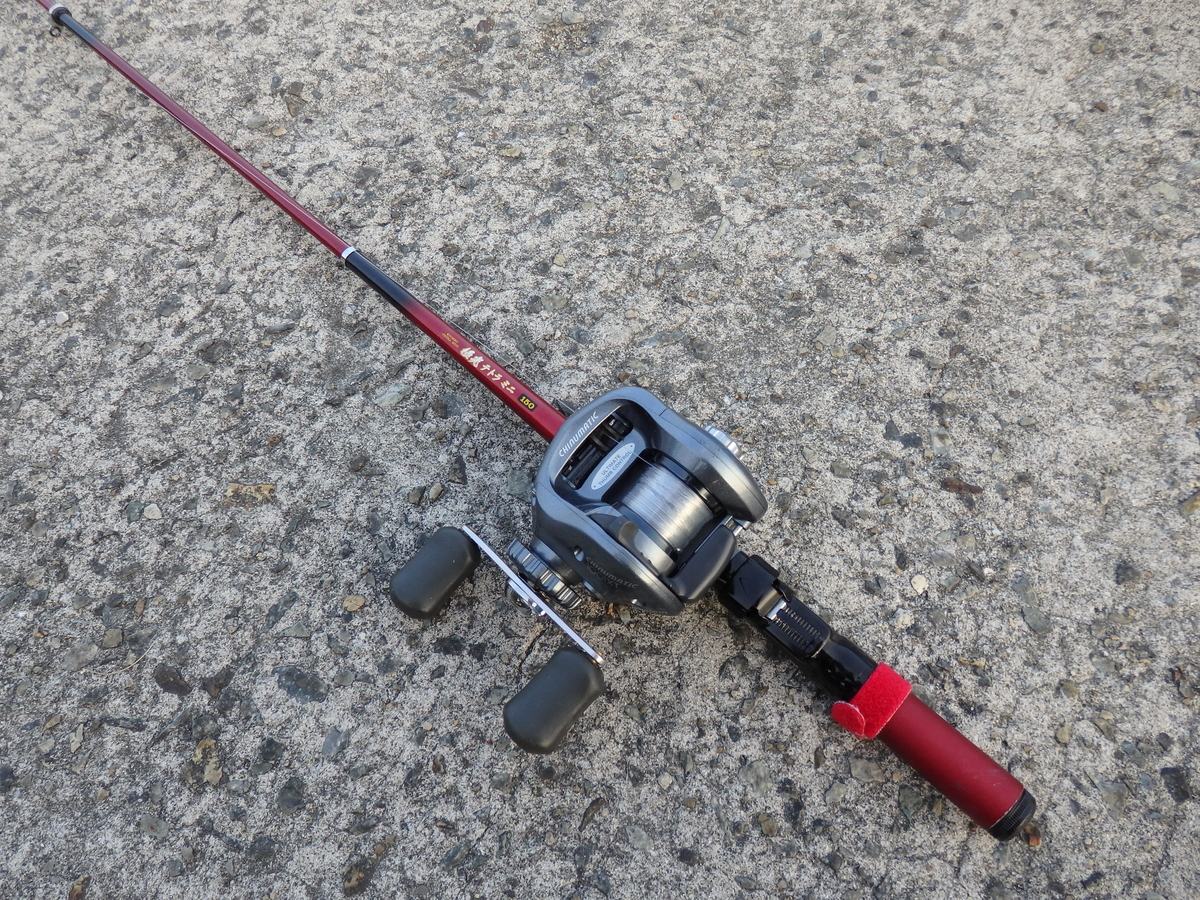 探り釣りで使う竿とリール