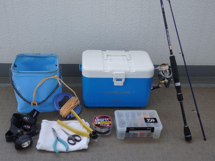 中アジ釣りに必要な道具の写真