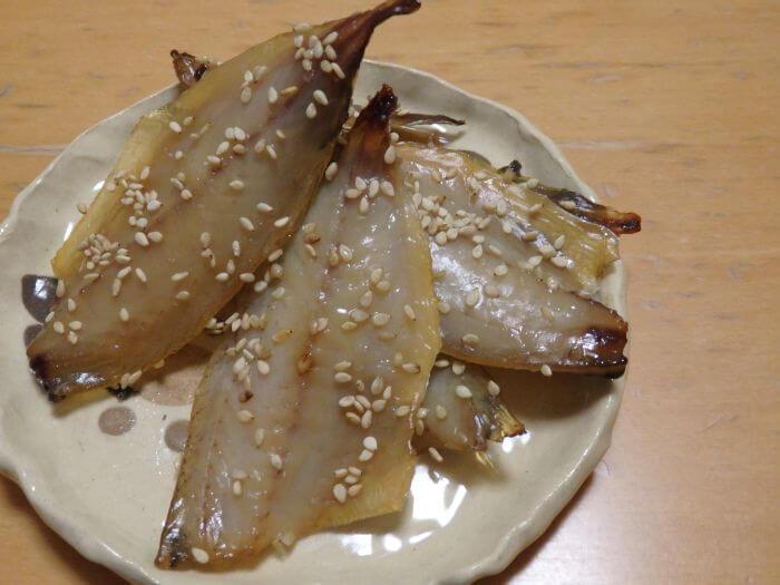 釣った中アジで作ったアジの味醂干しの写真