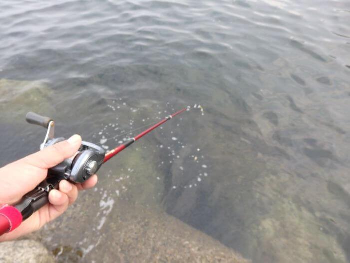 カサゴが釣れそうな穴の写真