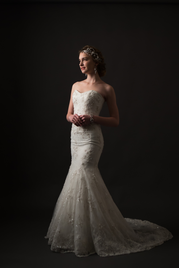 家族婚 ドレス マーメイドライン