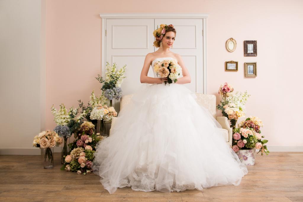 家族婚ドレス プリンセスライン