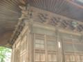 弓形欄間、桟唐戸、組物(高倉寺観音堂)