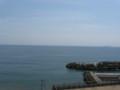 走り湯付近から見た相模湾