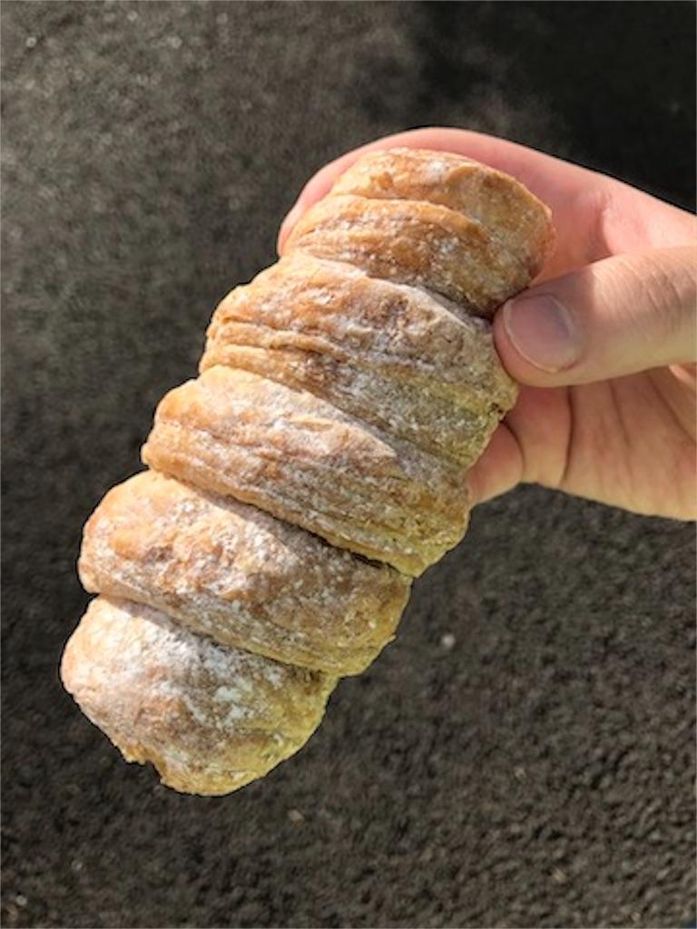 冷やして食べるパイコロネ(マロンクリーム)