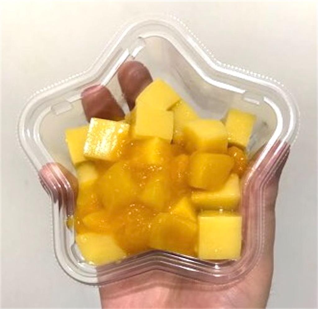 セブンイレブン もっちりマンゴーわらび とろーりマンゴーソース
