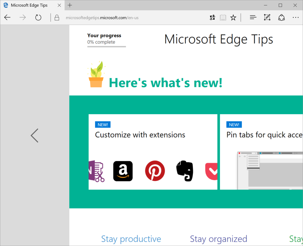 Microsoft Edge の使い方 (Windows 10 Anniversary Update - Build ...