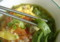 緑(ホウレンソウ)の麺