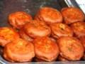 西安料理回民街のイスラム柿餅