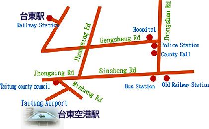 航空シャトルルートマップ