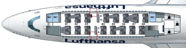 B747-8 アッパーデッキ シートマップ