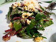 赤軸ホウレンソウのサラダ