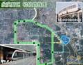 西安大雁塔モノレール(西安江曲観光ライトレール)路線図