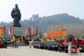 中国・陝西省 数万人が司馬遷を祭る