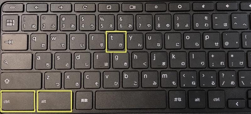 Chroshを起動するときのキーマップ