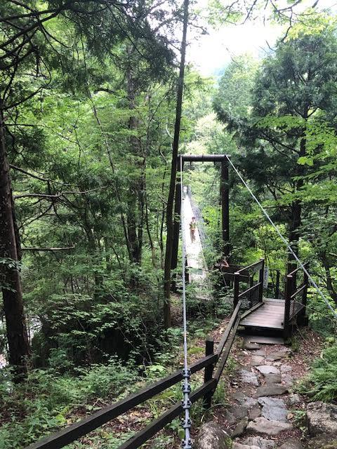 付知峡吊り橋