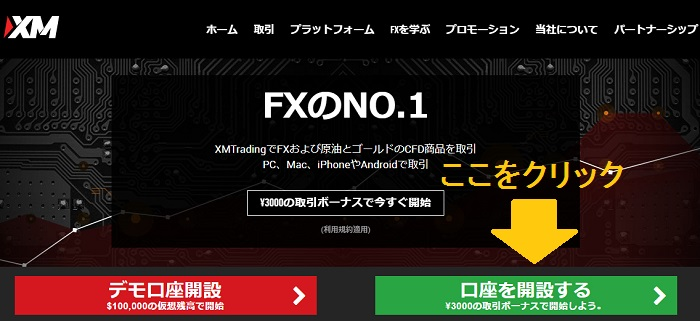 海外FXのXM口座開設