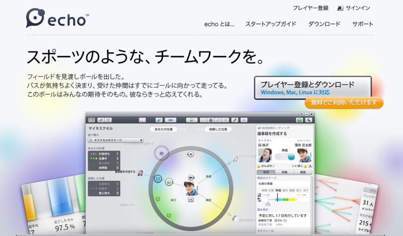楽しいプロジェクト管理ツール echo