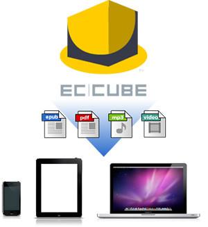EC-CUBEでepub,PDF,mp3などもダウンロード可能に