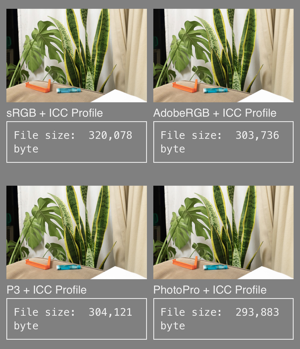 iPhoneでの元のjpg画像の表示