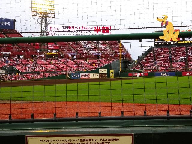 △ フィールドシート1塁側A GATE15FR1列34番 - ♪楽天SEIMEIパーク ...