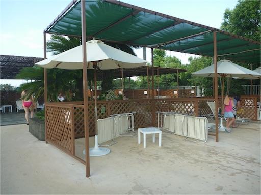豊島園プールの有料席、ペアシート