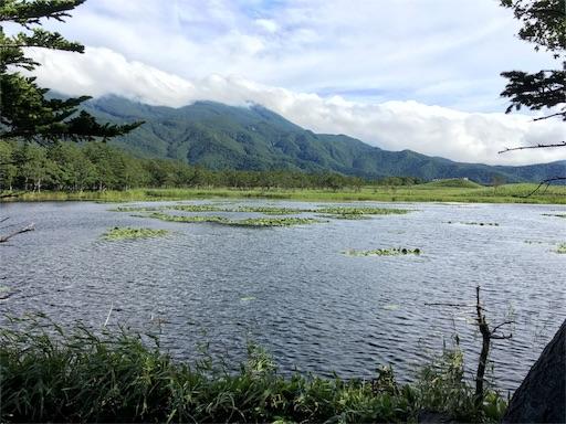 知床五湖、2湖から知床連山が見えます。