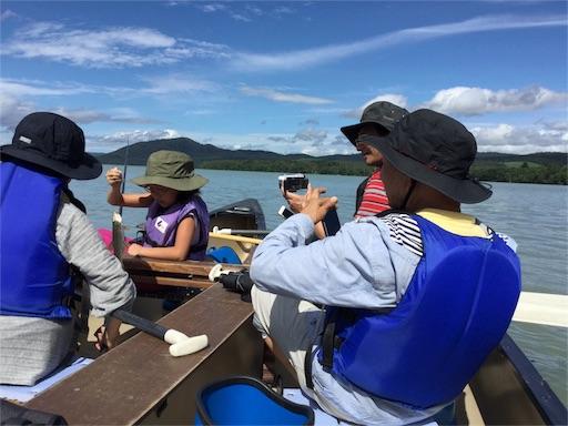 屈斜路湖で、カナディアンカヌー、ツインカヌー乗りました