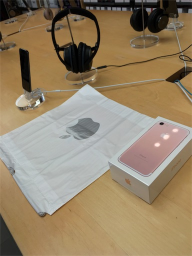 iphone7ローズゴールドです。アップルストア銀座店2F