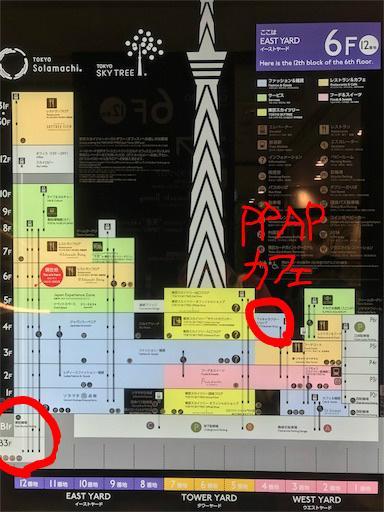 PPAPカフェの場所、東京スカイツリータウンの写真
