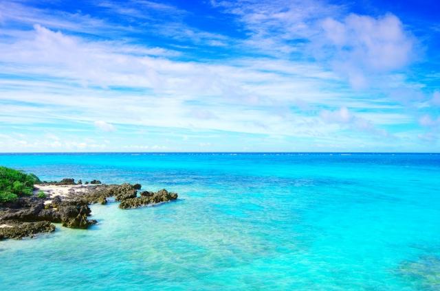 南国の海辺の写真
