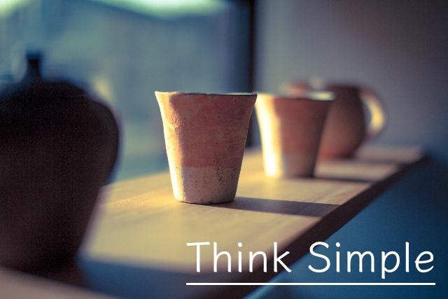 シンプルな陶器の写真