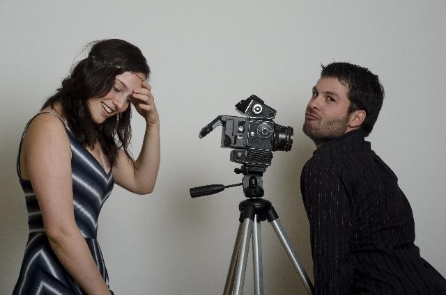 カメラマンとモデルの写真