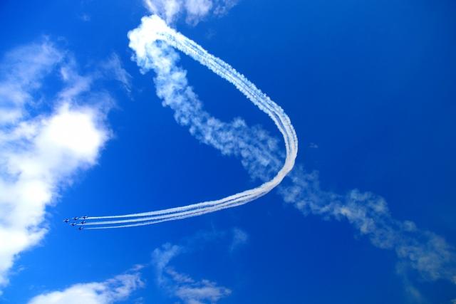曲芸飛行の写真