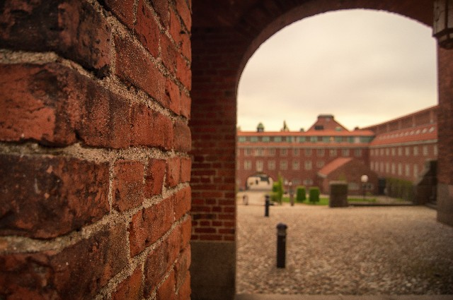海外にある大学の門の写真