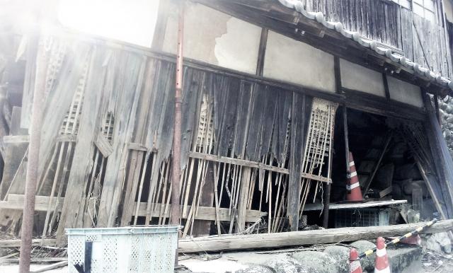 被災した家屋の写真