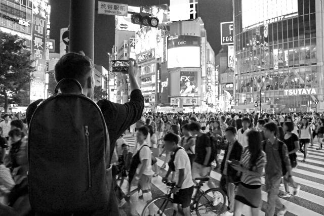 渋谷駅前交差点の写真
